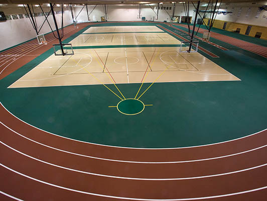 York High School Running Track Surfaces