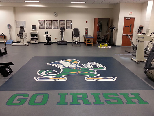 University Of Notre Dame Strength Training Flooring