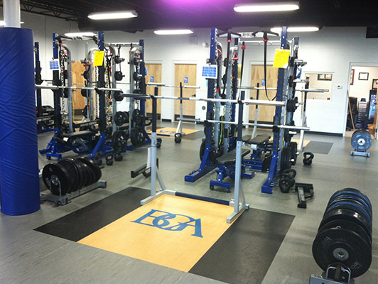 BattleGround Academy Weight Room Flooring
