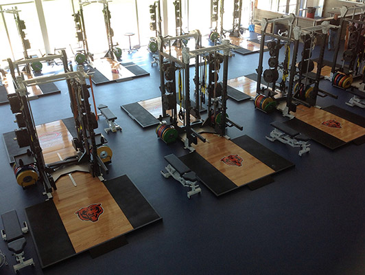 Bears Halas Hall Weight Room Flooring