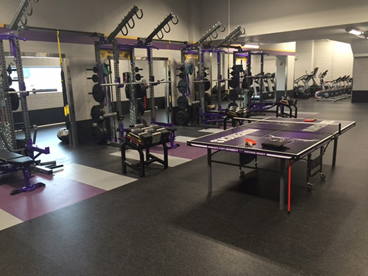 Mankato State University Weight Room Flooring