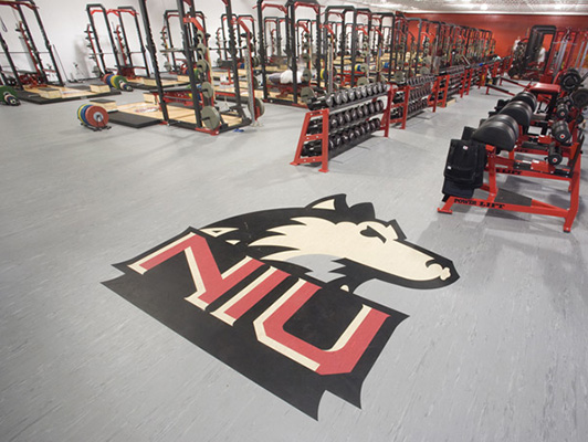 Northern Illinois University Weight Room Flooring