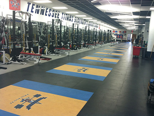 Weight Room Floors   Tennessee Titans