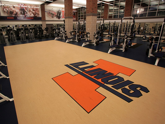University Of Illinois Weight Room Flooring