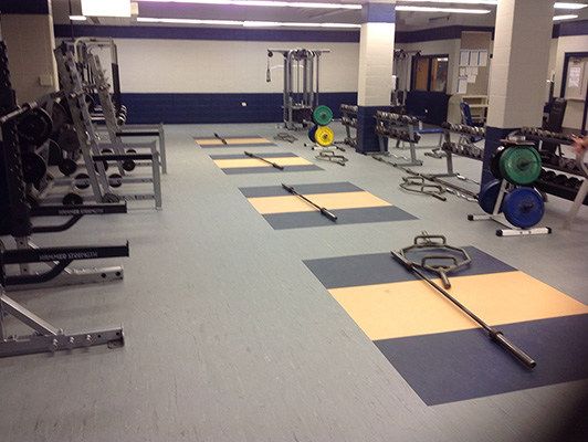 West Chicago High School Weight Room Flooring