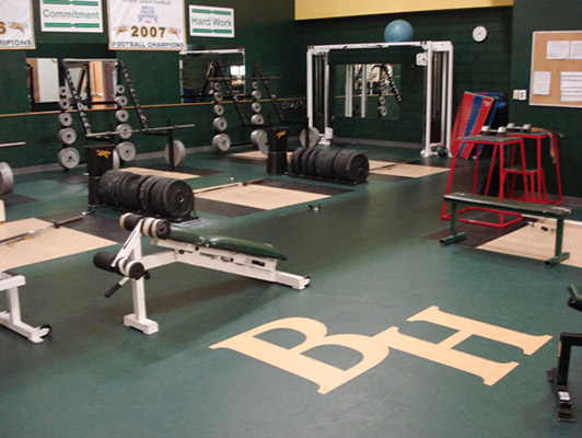 Black Hills State University Weight Room Floor