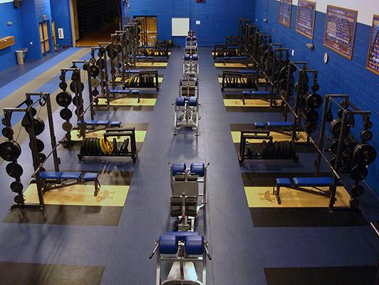 Hutchinson High School Weight Room Floor