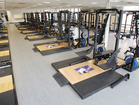 Northwestern University Weight Room Flooring