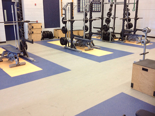 Oswego High School Weight Room Flooring