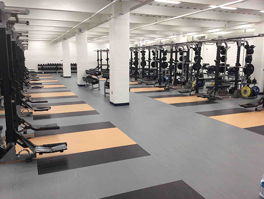St Ignatus High School Weight Room Flooring
