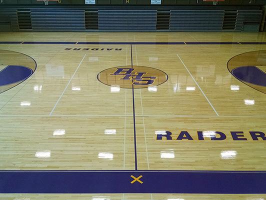 Bloomington High School - Wood Gymnasium Floor