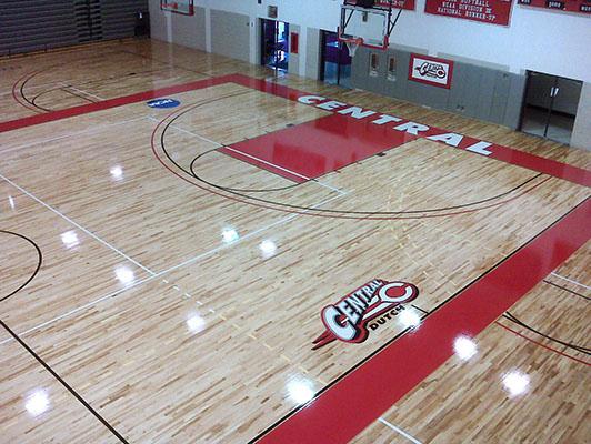 Central College - Hardwood Gym Floor