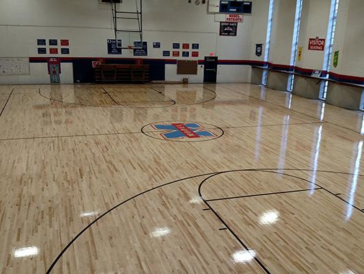Model Lab School - Wood Gym Flooring
