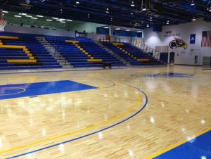 Southeastern Illinois University - wood gym flooring