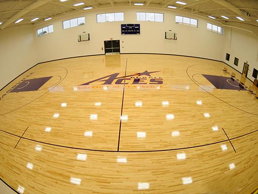 University Evansville - Wood Gym Flooring