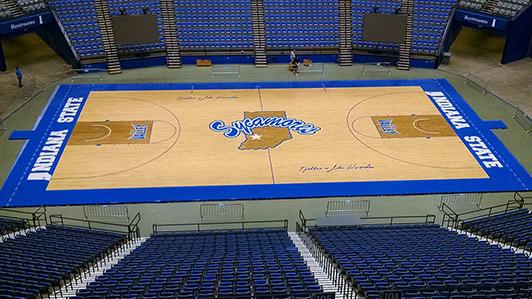 Indiana State University - Hardwood Gym Flooring