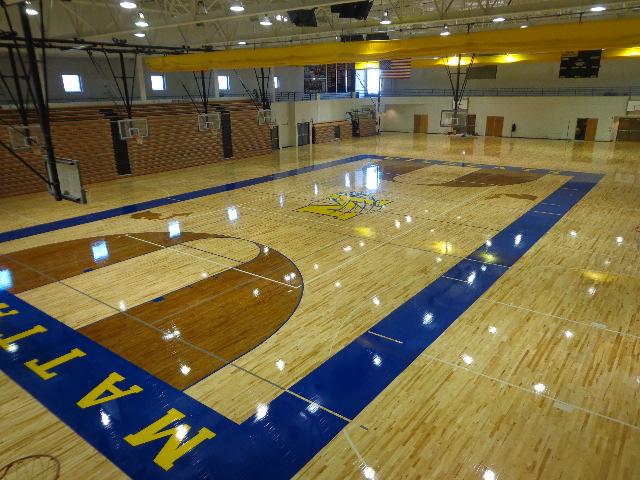 Mattawan High School - Gym Flooring - Basketball Flooring