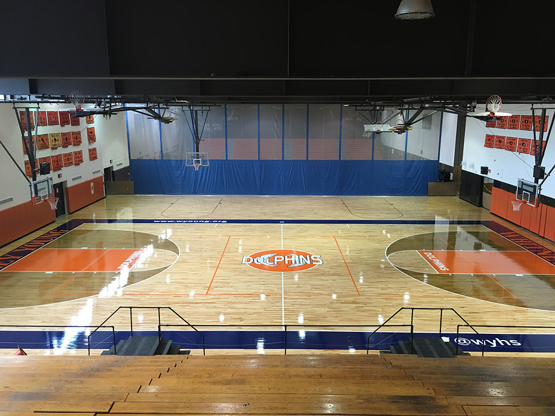 Whitney M. Young Magnet High School - Gymnasium Floor