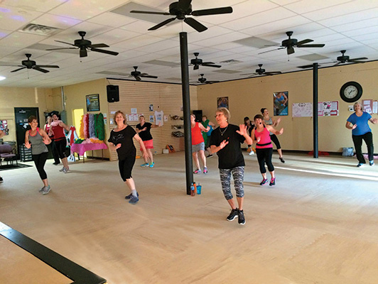 Jazzercise Salem NC - Group Dance Floor