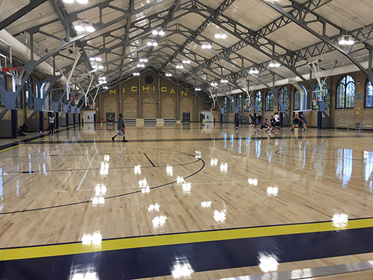 Wood Floor - University Of Michigan Rec Center