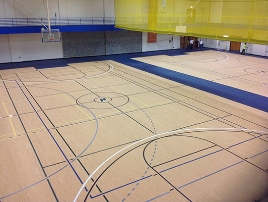 Northeastern University - Indoor Sports Floor