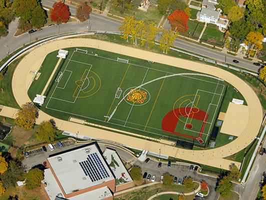 St Teresas Academy Lacrosse Field Turf