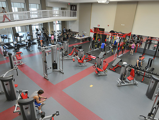 Denison University Strength Training Flooring