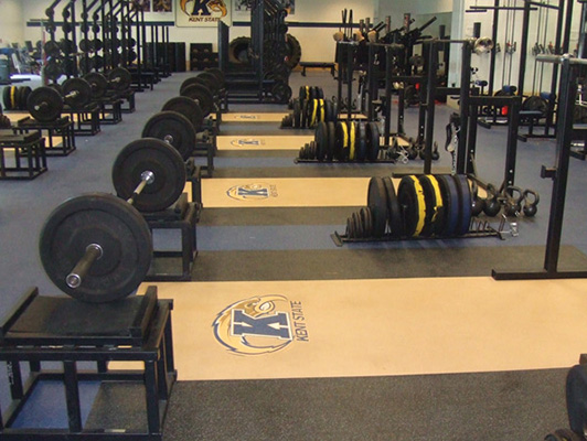 Kent State University Strength Training Flooring