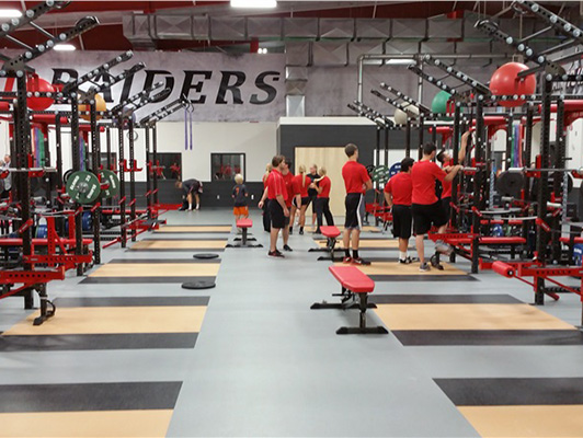 Northwestern College Strength Training Flooring