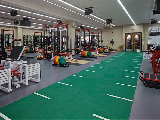 Strength Training Room Flooring - University WI Madison