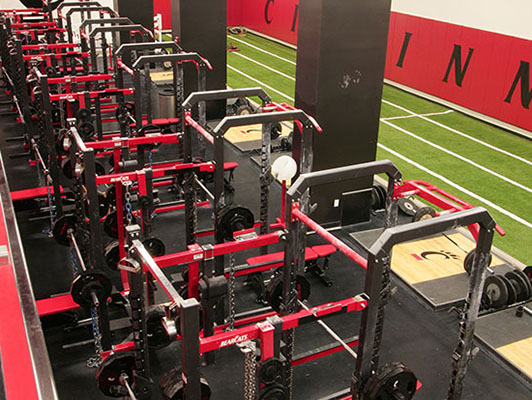 University Of Cincinnati - Strength Training Flooring