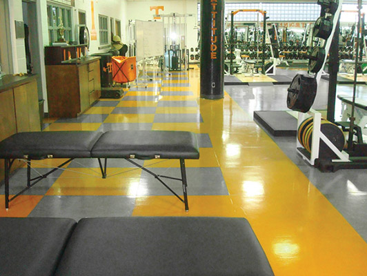 University Of Tennessee - Strength Training Flooring