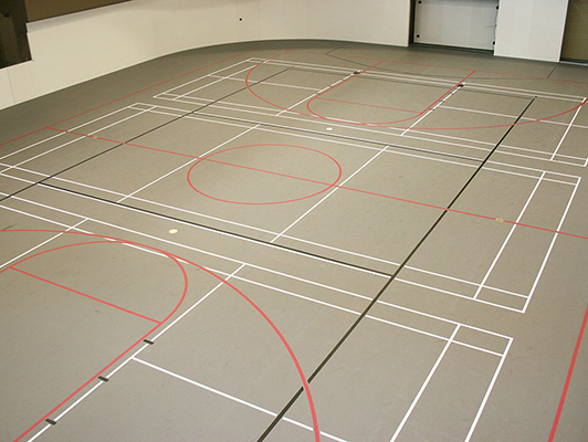 Bradley University Tennis Flooring