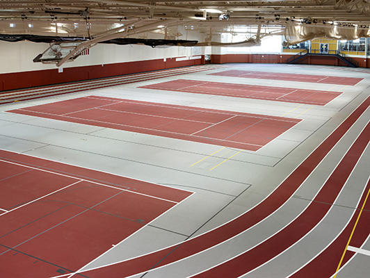 Central College Tennis Flooring