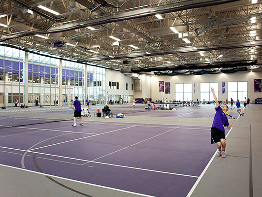 St Thomas University Tennis Flooring