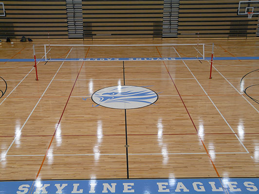 Skyline High School Volleyball Flooring