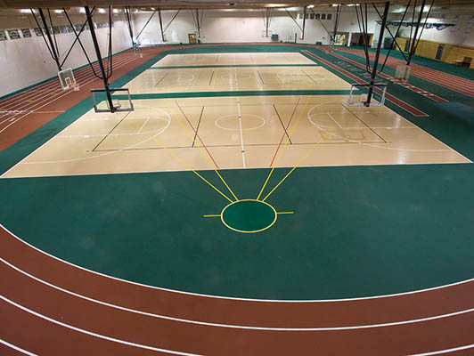 York High School Volleyball Flooring