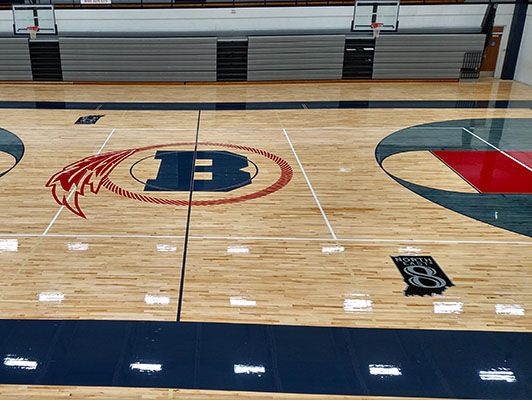 Bellmonth High School - Sports Wood Flooring