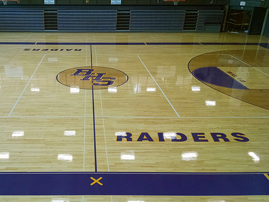 Bloomington High School Gym Wood Flooring