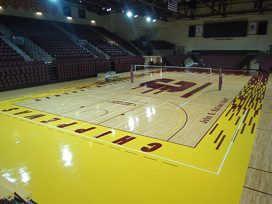 Central Michigan University - Sports Wood Flooring
