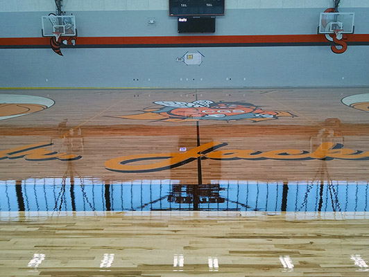 Chester Elementary School - Gym Wood Floor