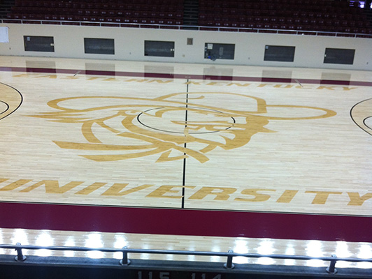 Eastern Kentucky University - Gym Wood Floor