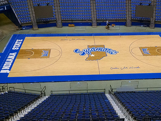 Indiana State University - Gym Wood Flooring