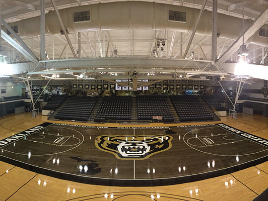 Oakland University - Sports Wood Flooring
