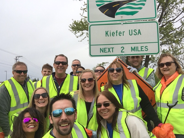Kiefer USA - Adopt a highway event