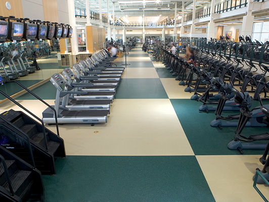 University Of North Texas Cardio Fitness Flooring