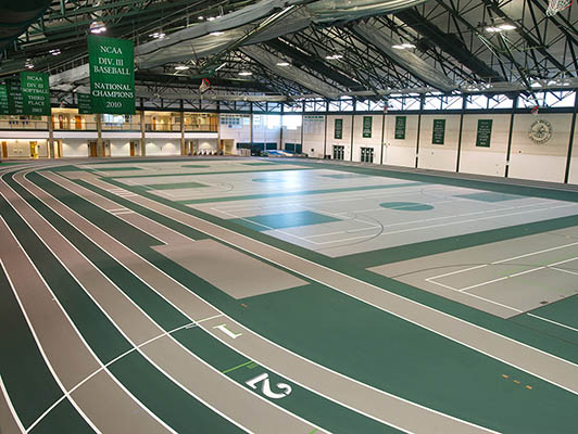 Illinois Wesleyan University Indoor Sports Flooring