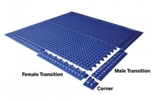 wet area flooring ProDek diagram KieferUSA
