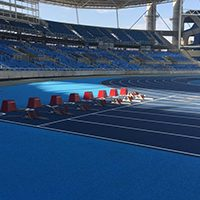 New Mondo Track At Olympic Stadium Is Installed