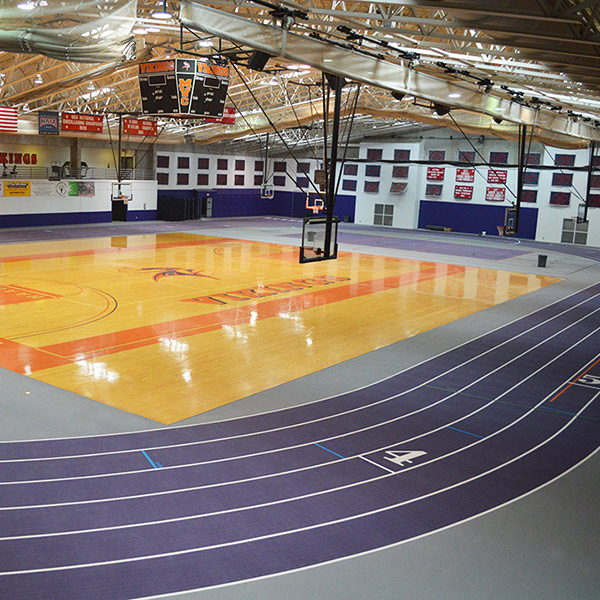 Missouri Valley College - Indoor Running Track Gym Flooring